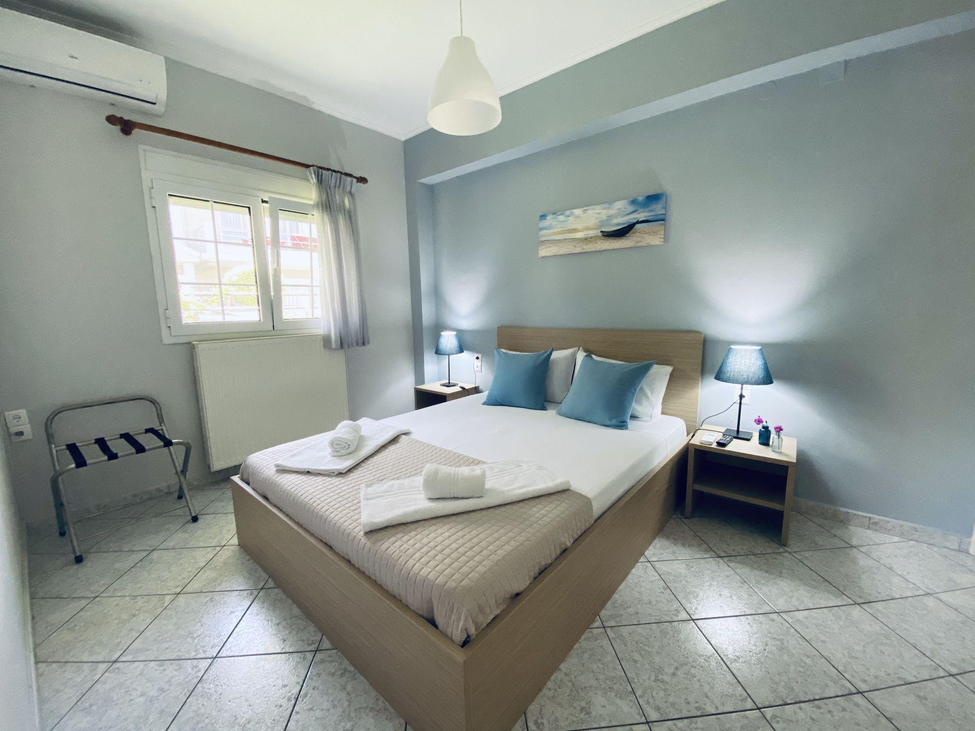 Lefkada Blue - Light Blue Apartment Bedroom